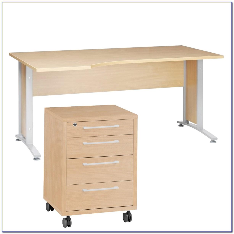 Rollcontainer Schreibtisch Holz
