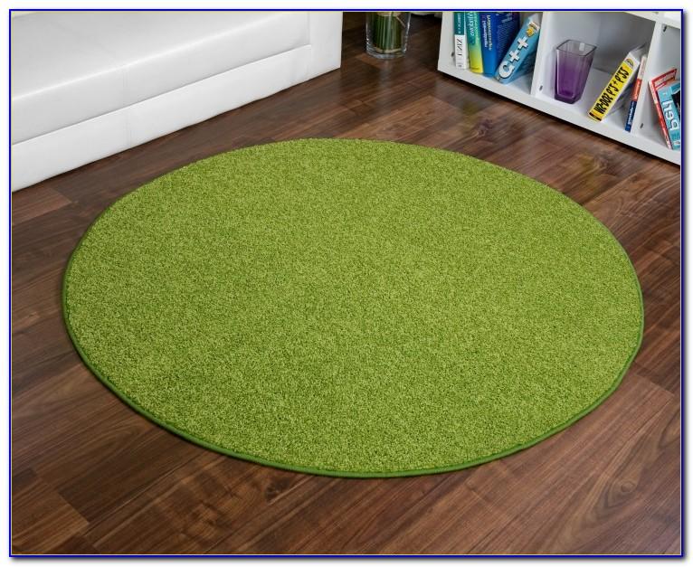 Runder Teppich Grün