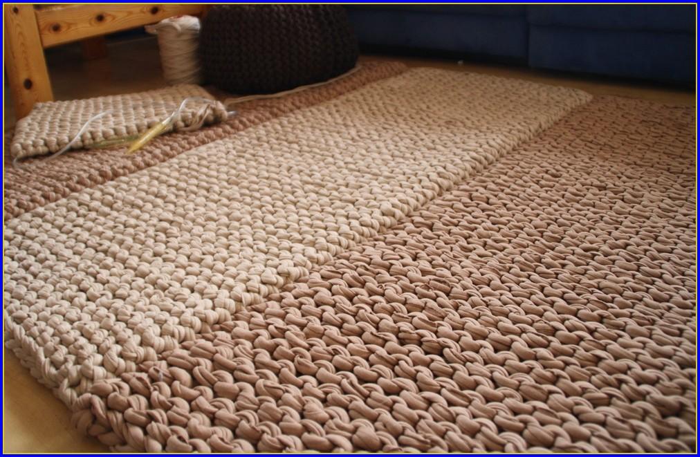 Runder Teppich Häkeln Anleitung