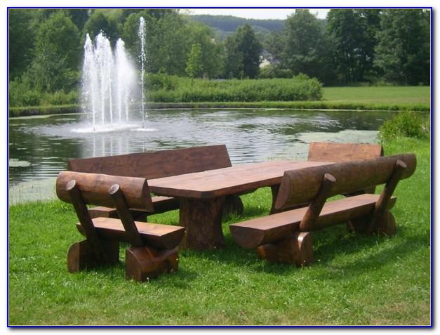 Rustikale Gartenmöbel Aus Holz Selber Bauen