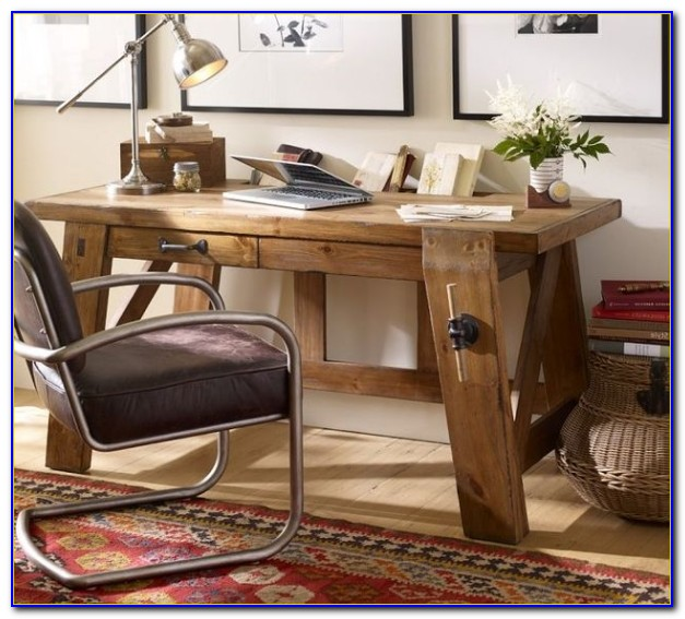 Rustikaler Schreibtisch Weiß