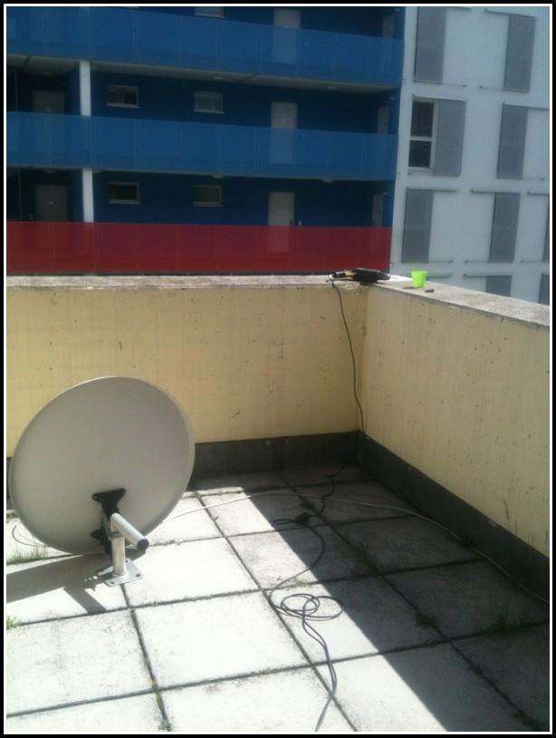 Sat Schüssel Auf Balkon Stellen