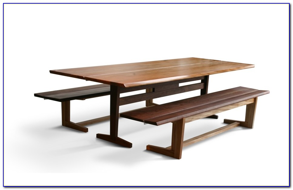 Sauder Trestle Table With Benches