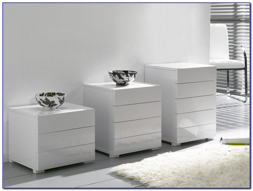Schlafzimmer Kommode Weiß Hochglanz