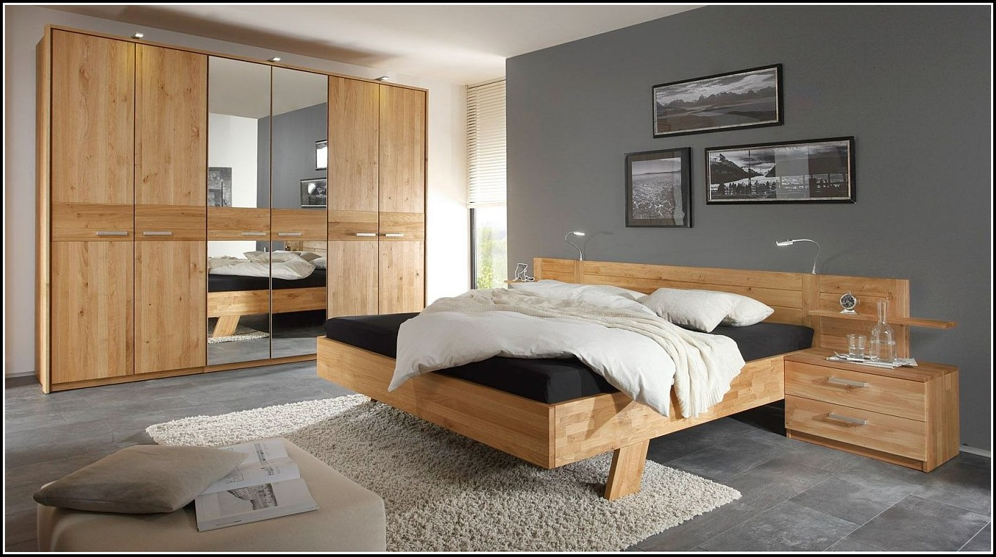 Schlafzimmer Mauritius Kernbuche Massiv