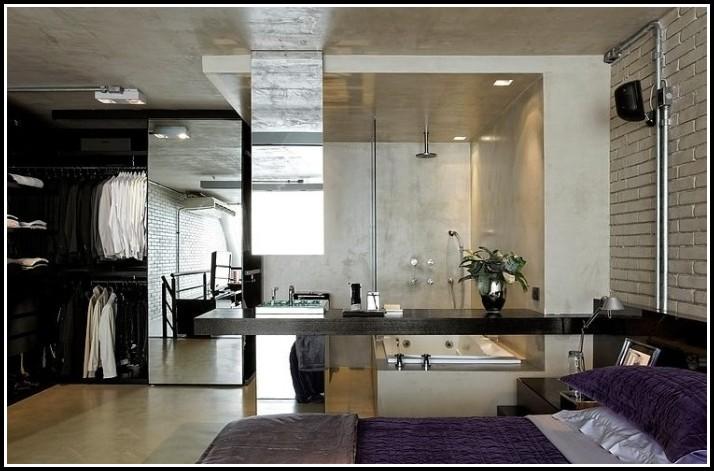 Schlafzimmer Mit Begehbarem Kleiderschrank Und Bad