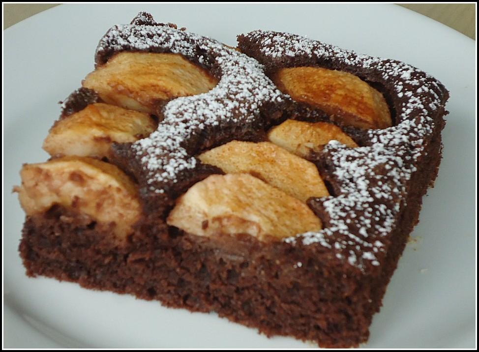 Schoko Apfel Kuchen Blech