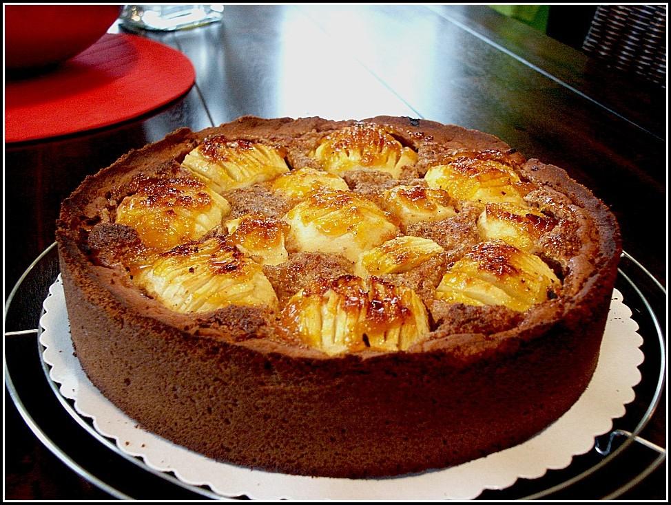 Schoko Apfel Kuchen Rezept
