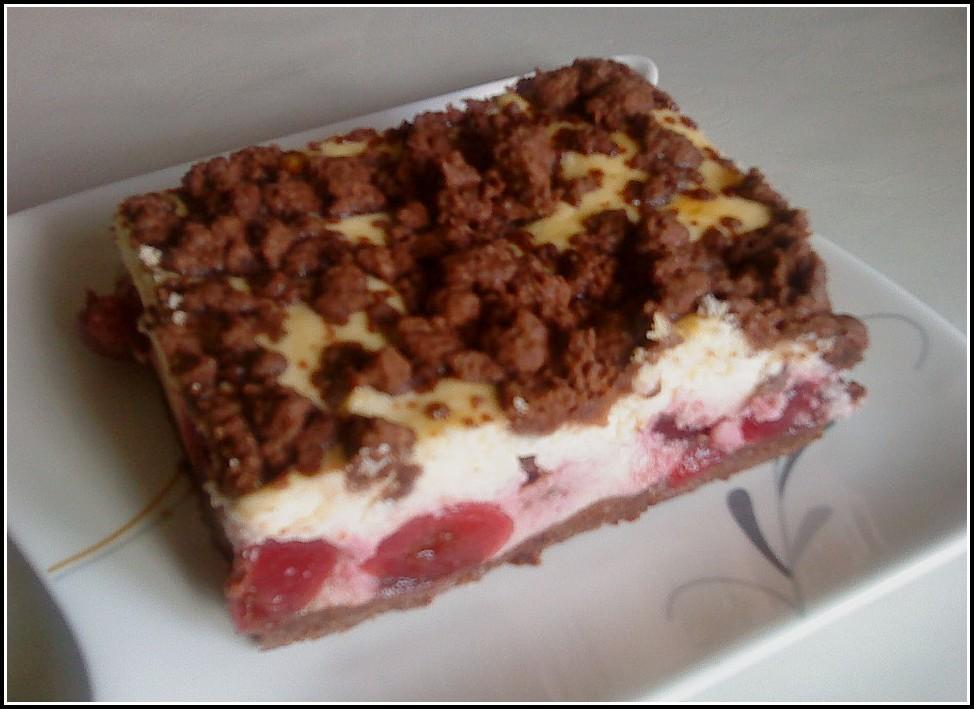 Schokoladen Kirsch Kuchen Blech