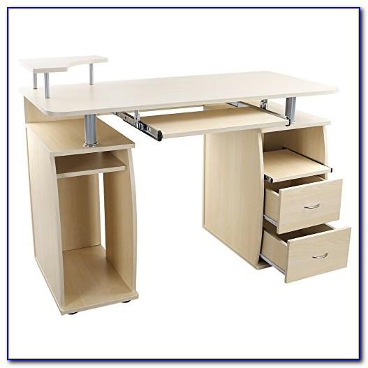 Schreibtisch Ahorn Weiß