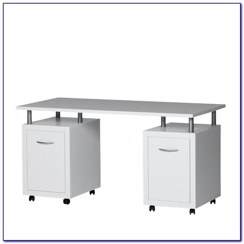 Schreibtisch Auf Rollen Weiss