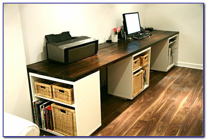 Schreibtisch Bauen Holz