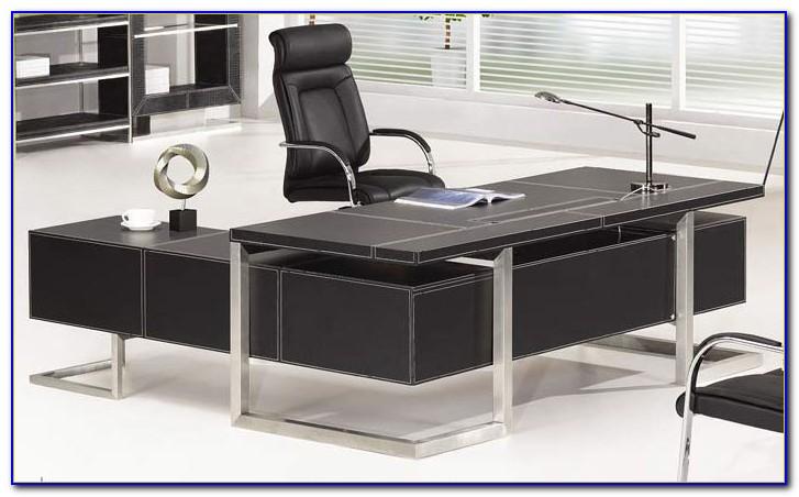 Schreibtisch Chefsessel Leder