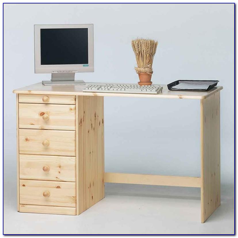 Schreibtisch Container Naturholz