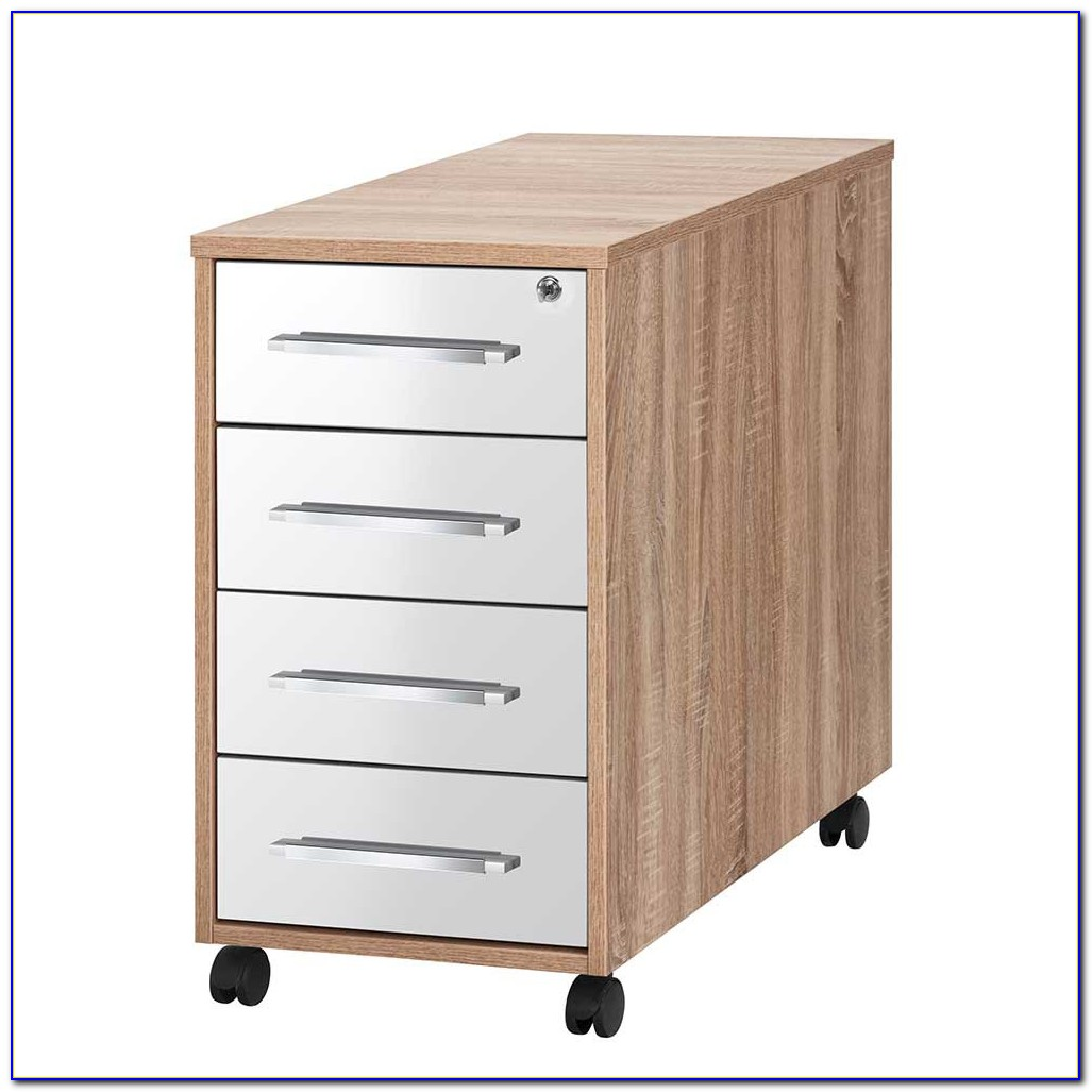 Schreibtisch Container Weiss