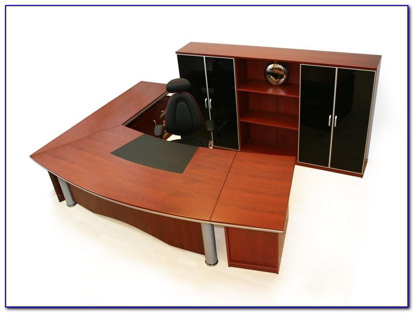 Schreibtisch Eckkombination Weiß