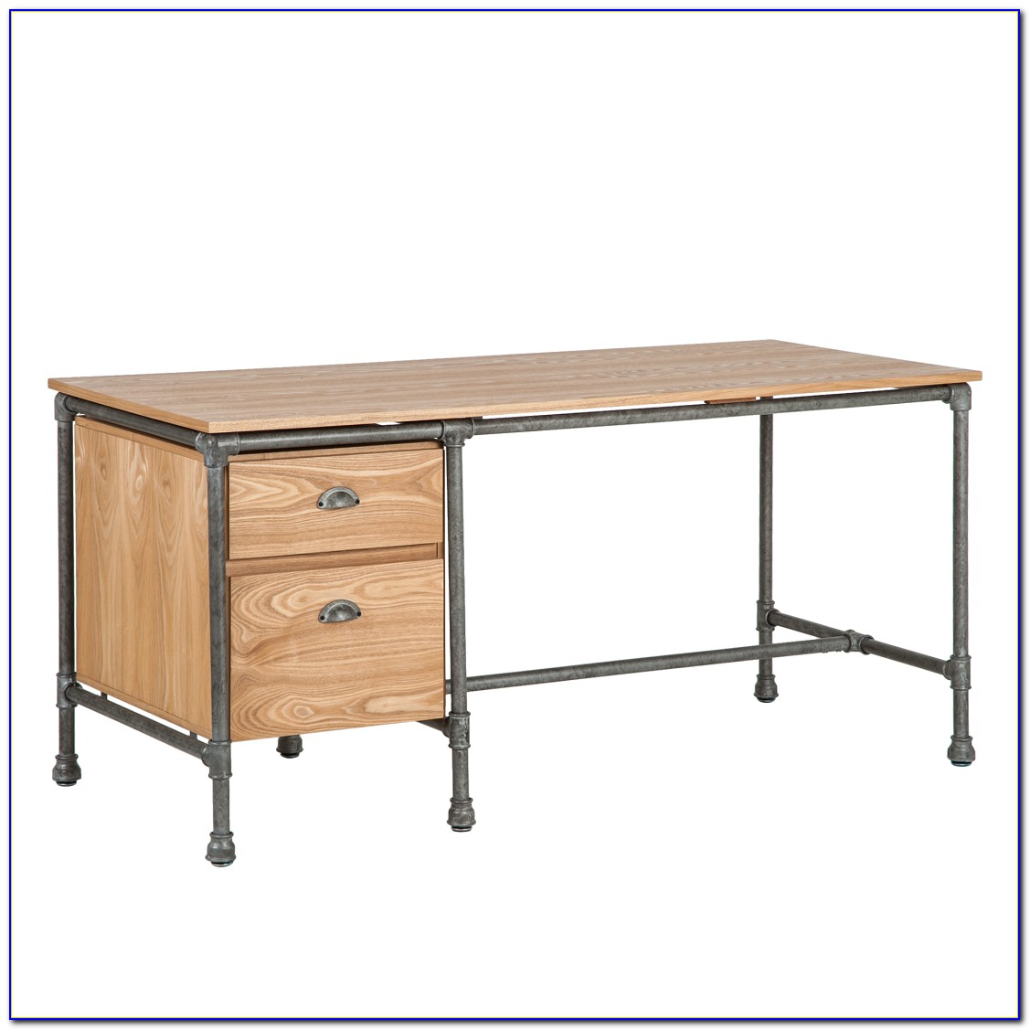 Schreibtisch Edelstahl Gebürstet