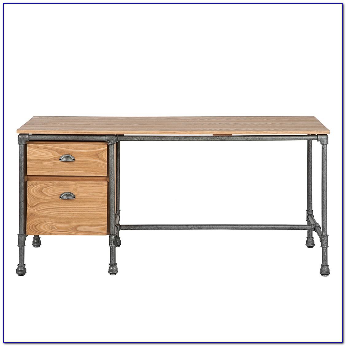 Schreibtisch Edelstahl Holz