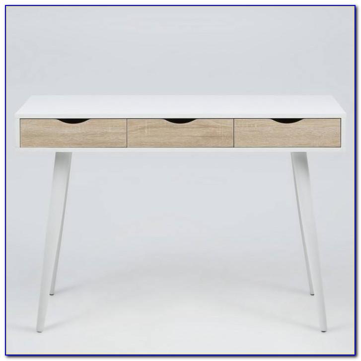 Schreibtisch Esche Grau