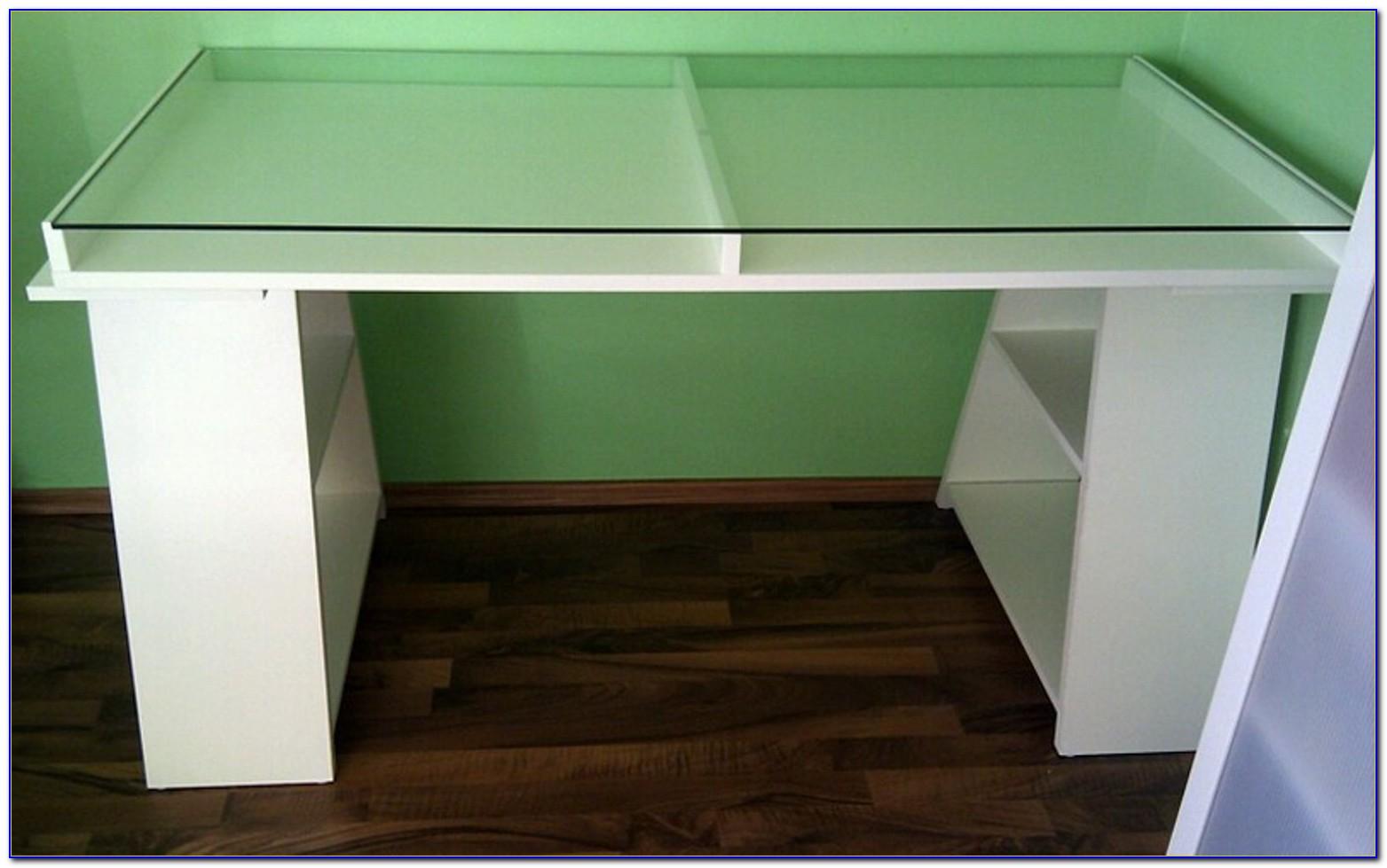 Schreibtisch Glas Schwarz Ikea