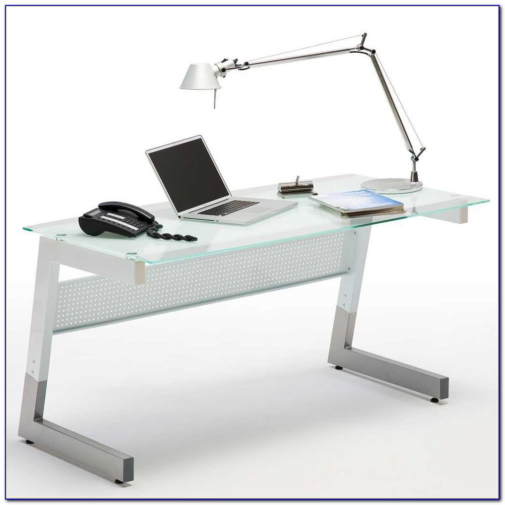 Schreibtisch Glasplatte 160