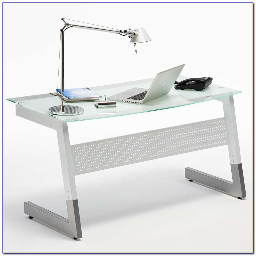 Schreibtisch Glasplatte Höhenverstellbar