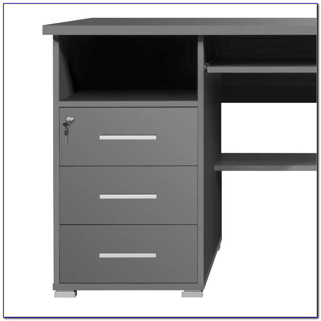 Schreibtisch Grau Braun
