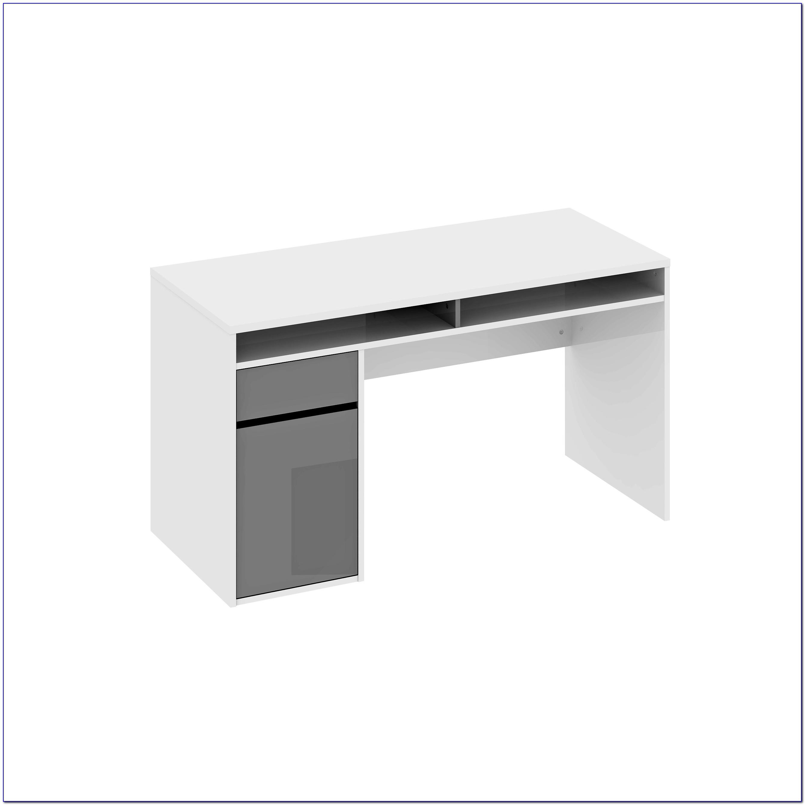 Schreibtisch Grau Hochglanz