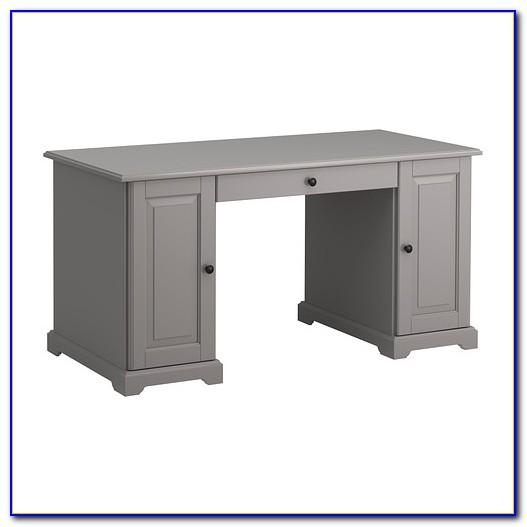Schreibtisch Grau Holz