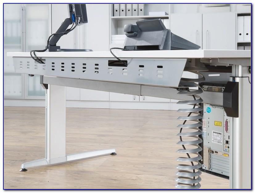Schreibtisch Höhenverstellbar Mit Kabelkanal