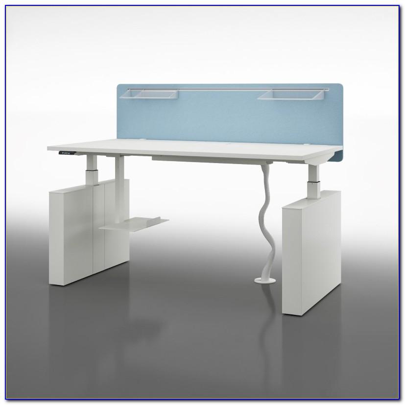 Schreibtisch Höhenverstellbar Weiß