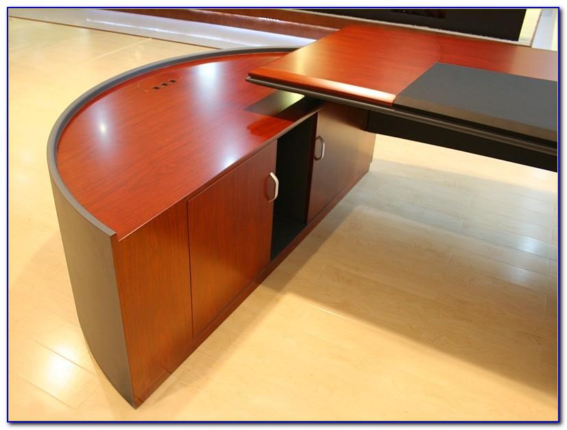 Schreibtisch Halbrund Holz