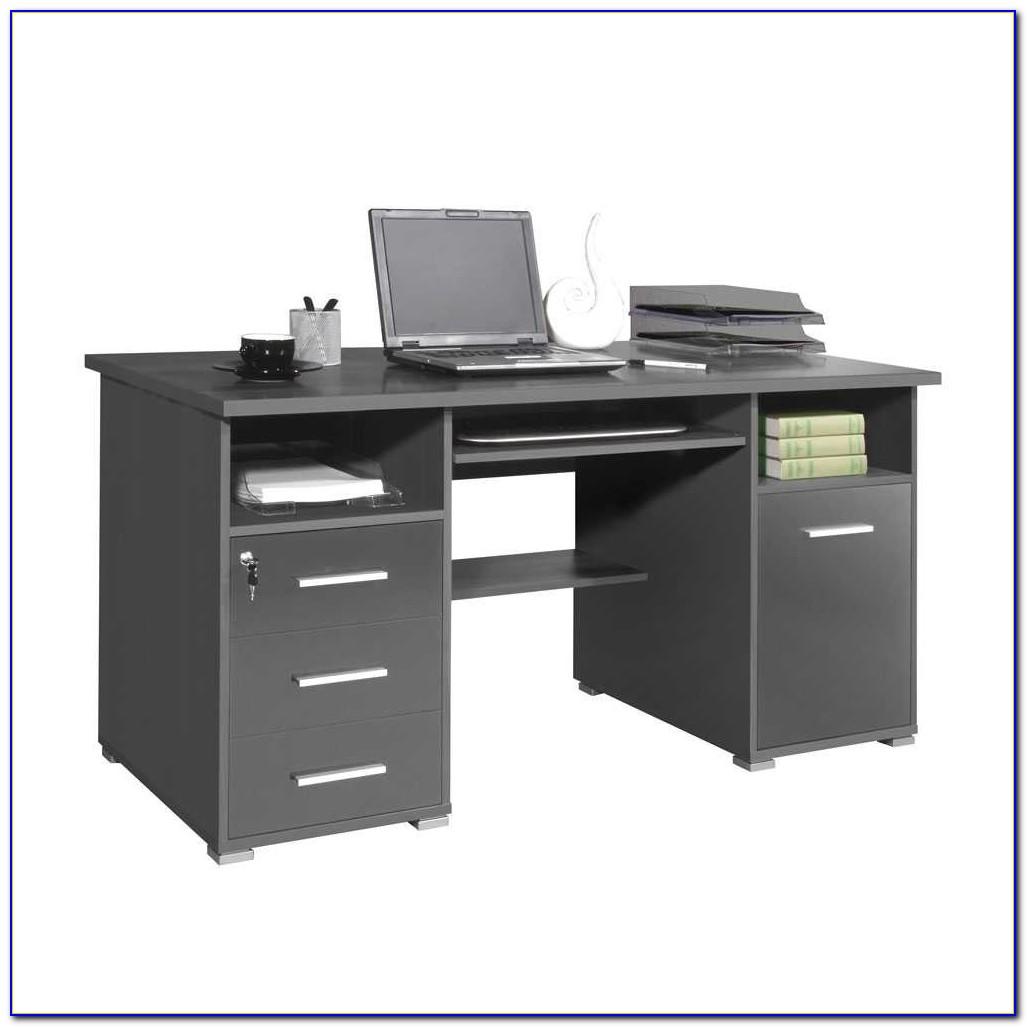 Schreibtisch Hochglanz Grau