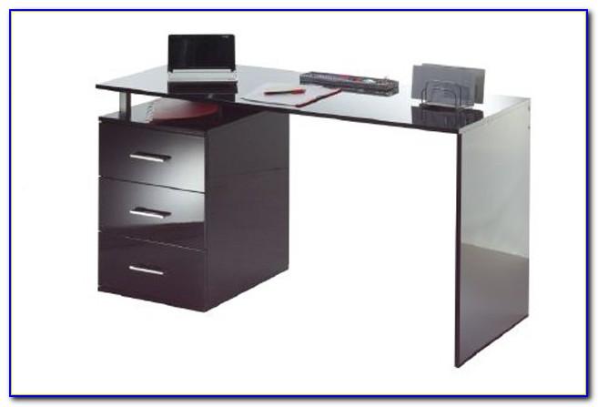 Schreibtisch Hochglanz Schwarz
