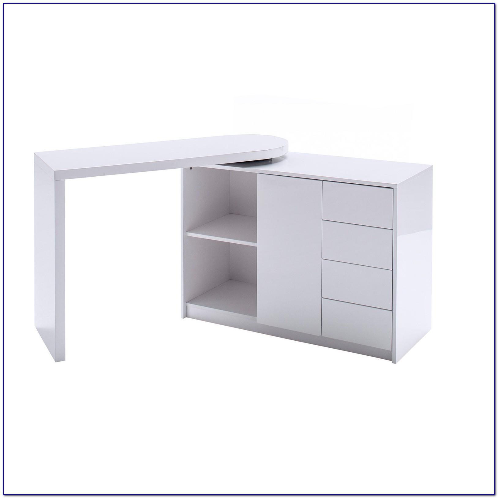 Schreibtisch Hochglanz Weiß 100