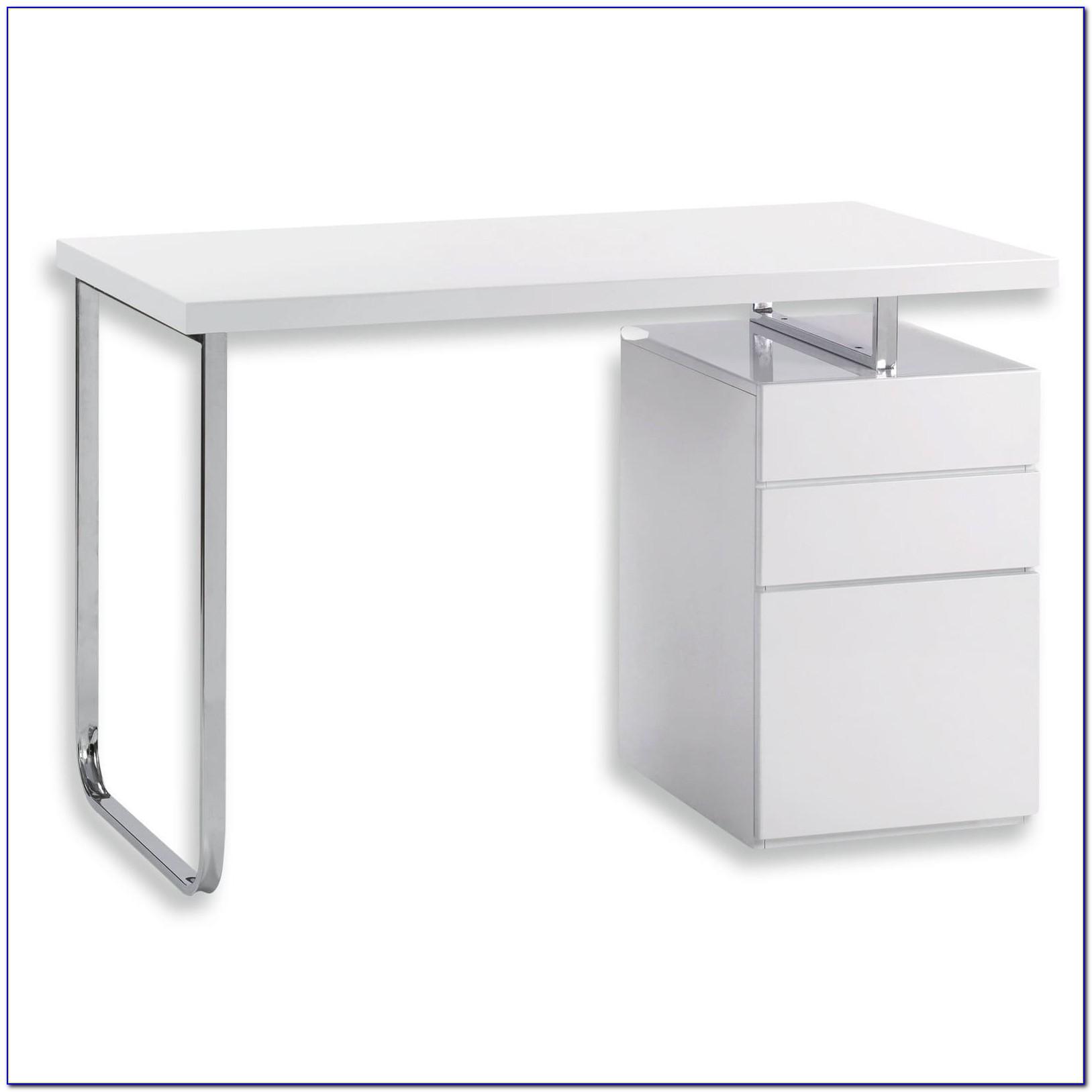 Schreibtisch Hochglanz Weiß 140