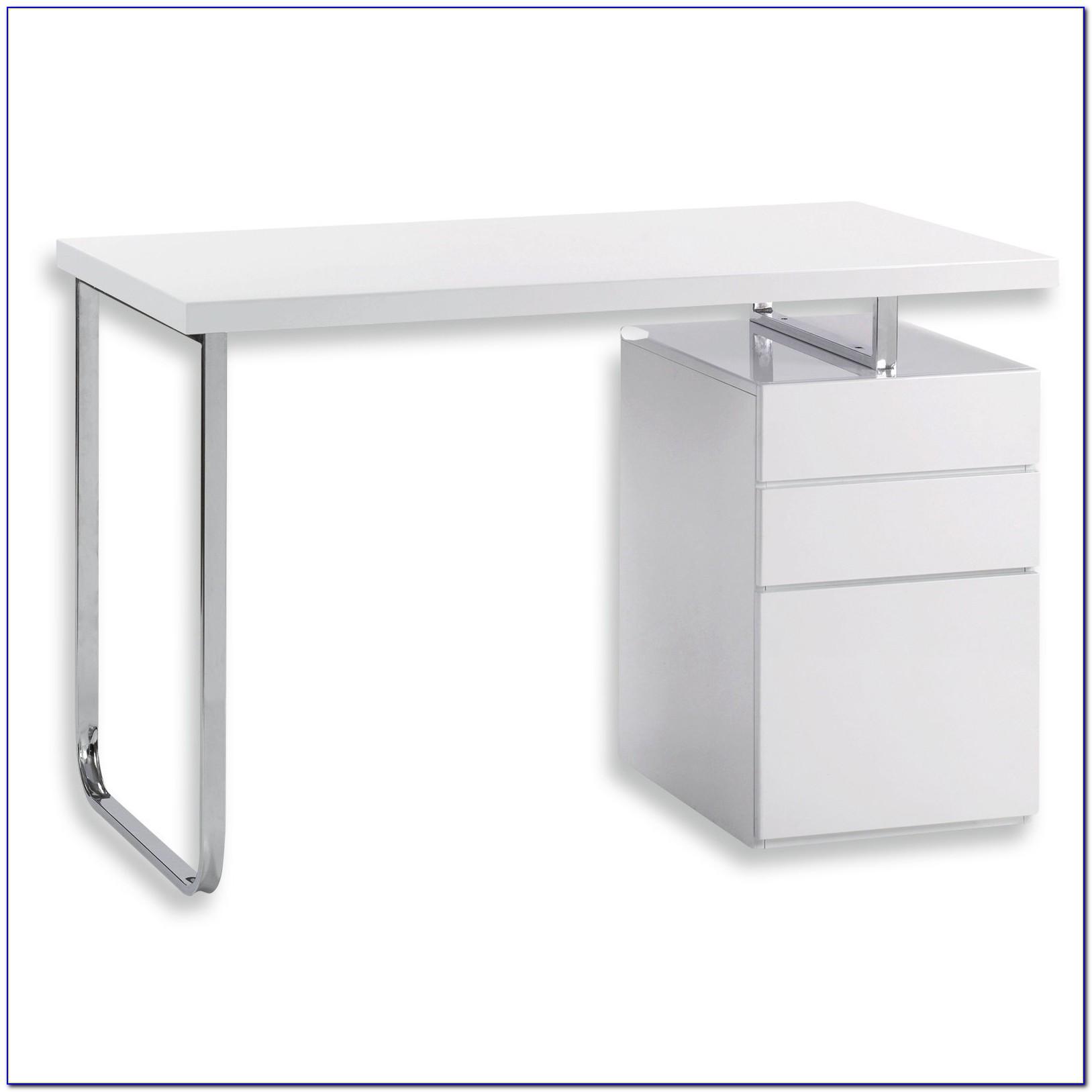 Schreibtisch Hochglanz Weiß Poco