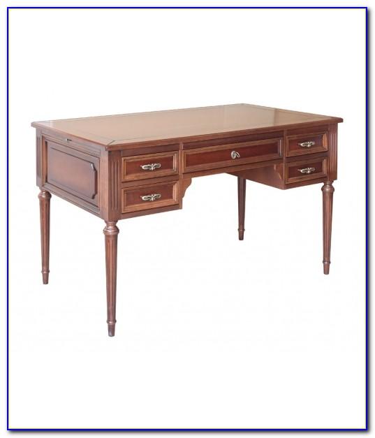 Schreibtisch Holzplatte Massiv