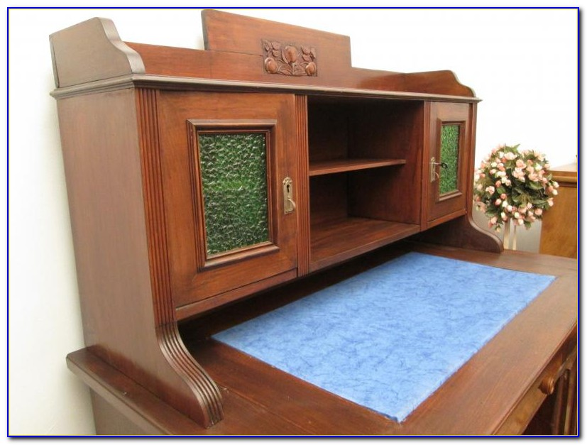 Schreibtisch Jugendstil Weiss
