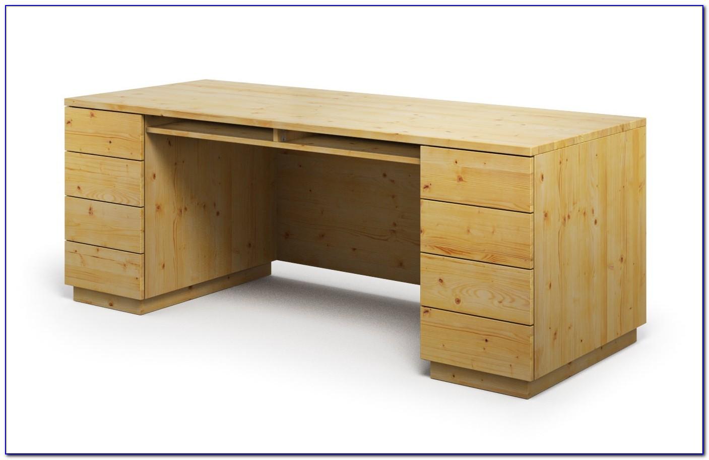 Schreibtisch Kiefer Höhenverstellbar