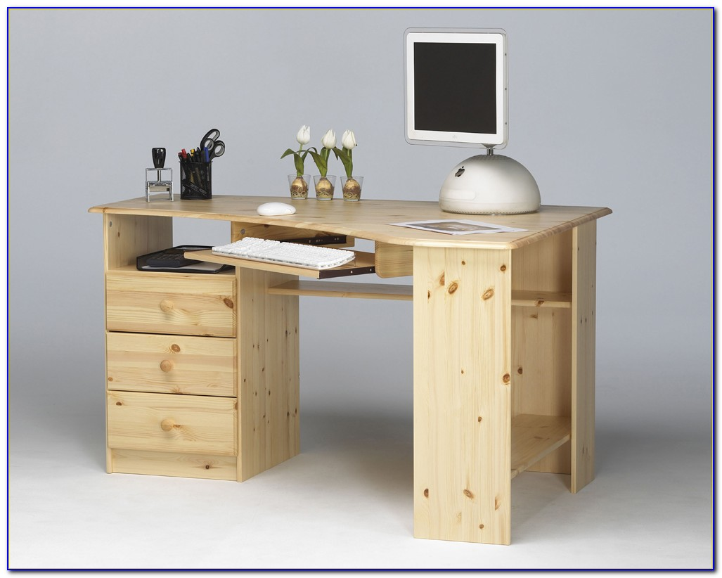 Schreibtisch Kiefer Massiv Gelaugt Geölt