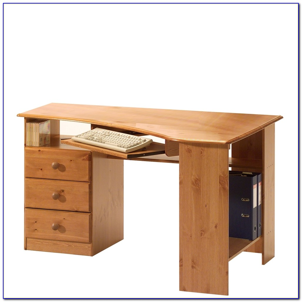 Schreibtisch Kiefer Massiv Weiß