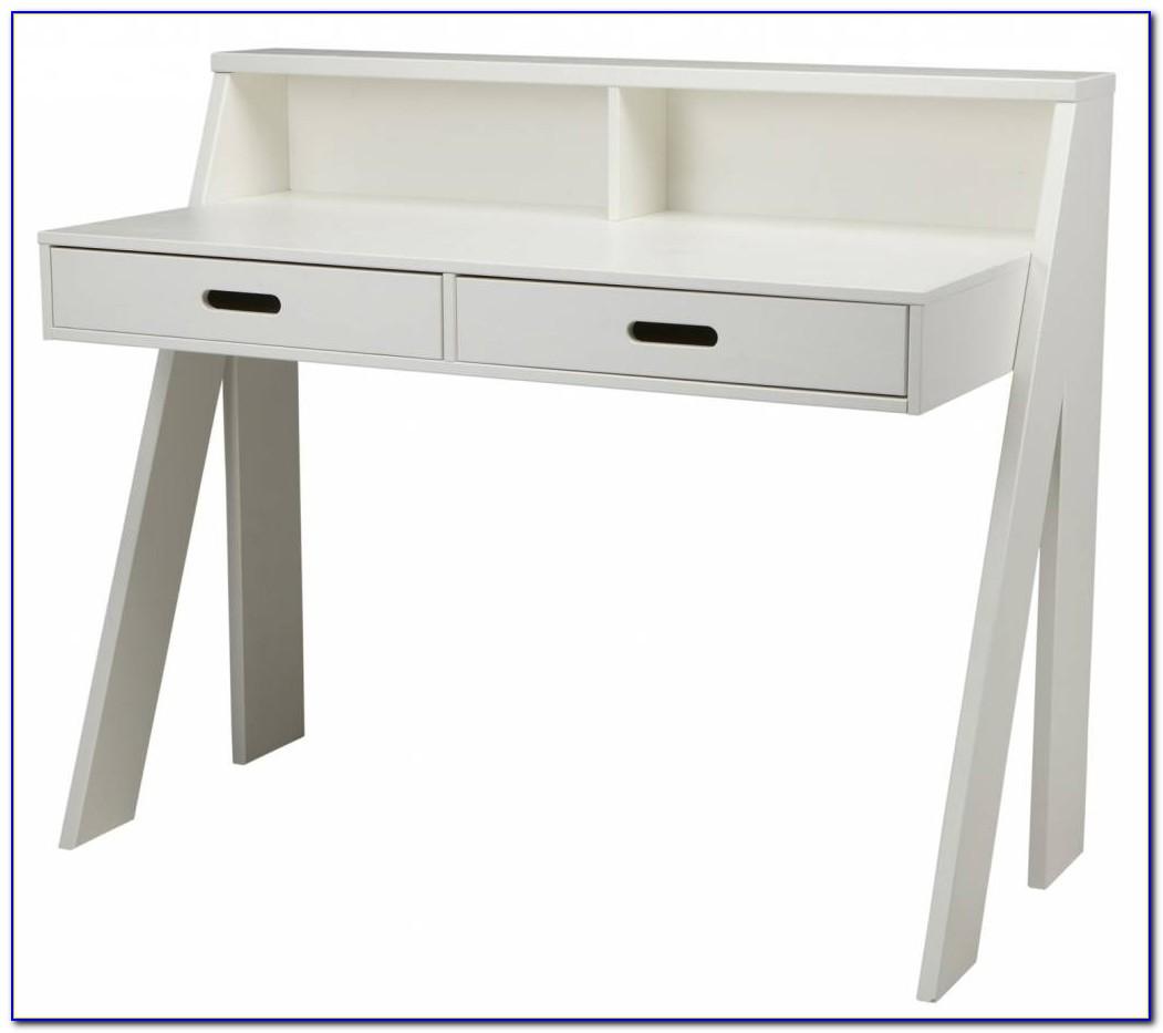 Schreibtisch Kiefer Weiß Lasiert