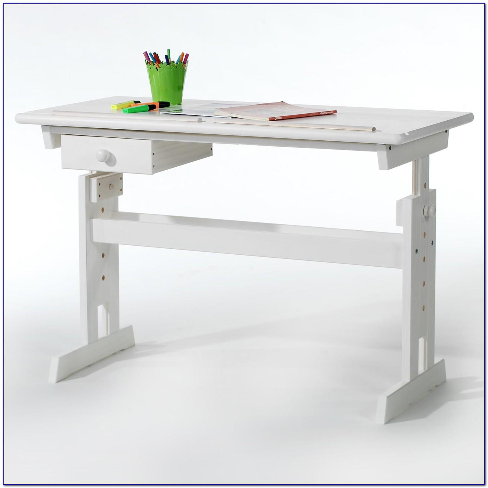 Schreibtisch Kinder Holz Weiss