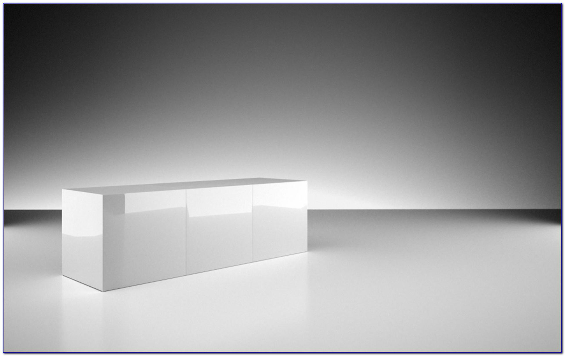 Schreibtisch Lack Hochglanz Weiß Servo