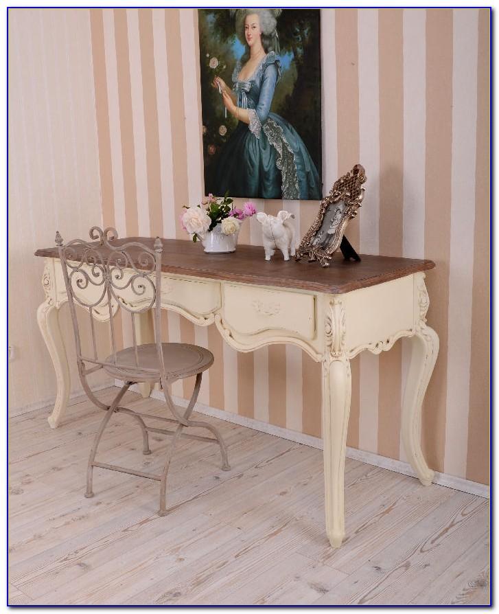 Schreibtisch Landhaus Weiß