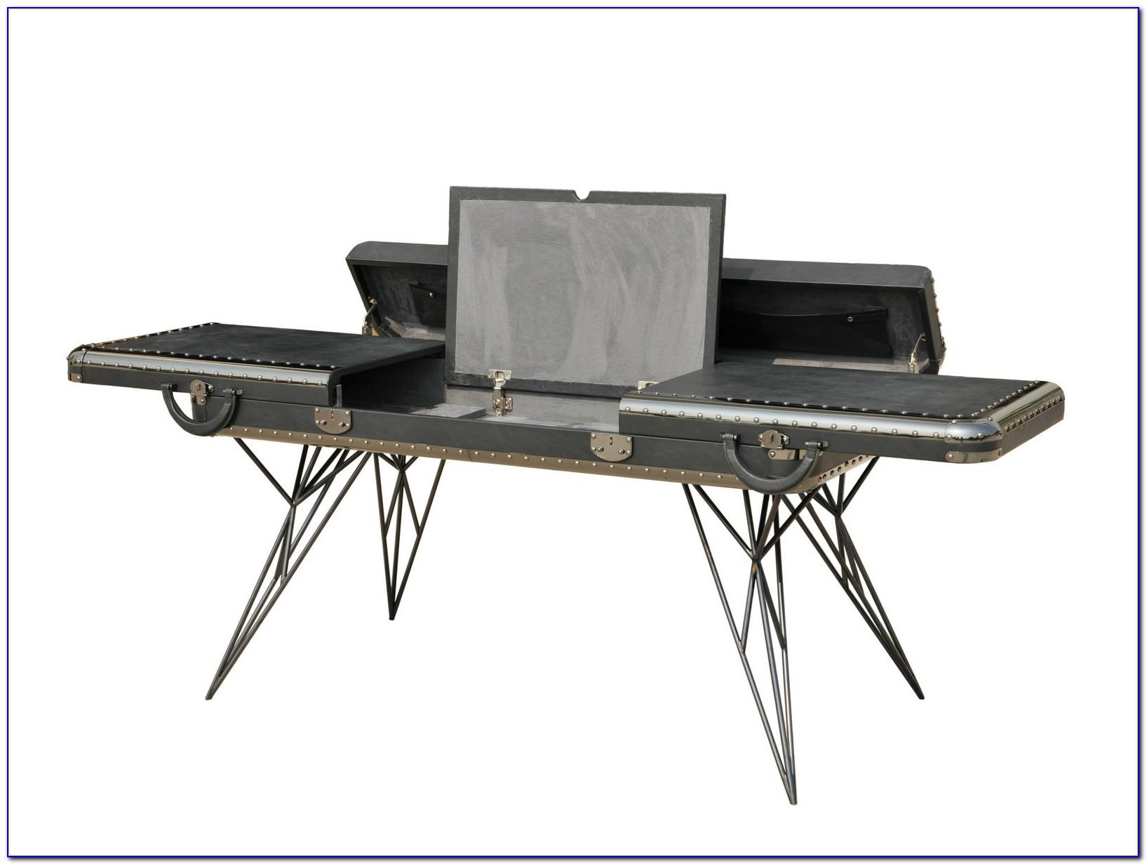 Schreibtisch Ledereinlage Restaurieren