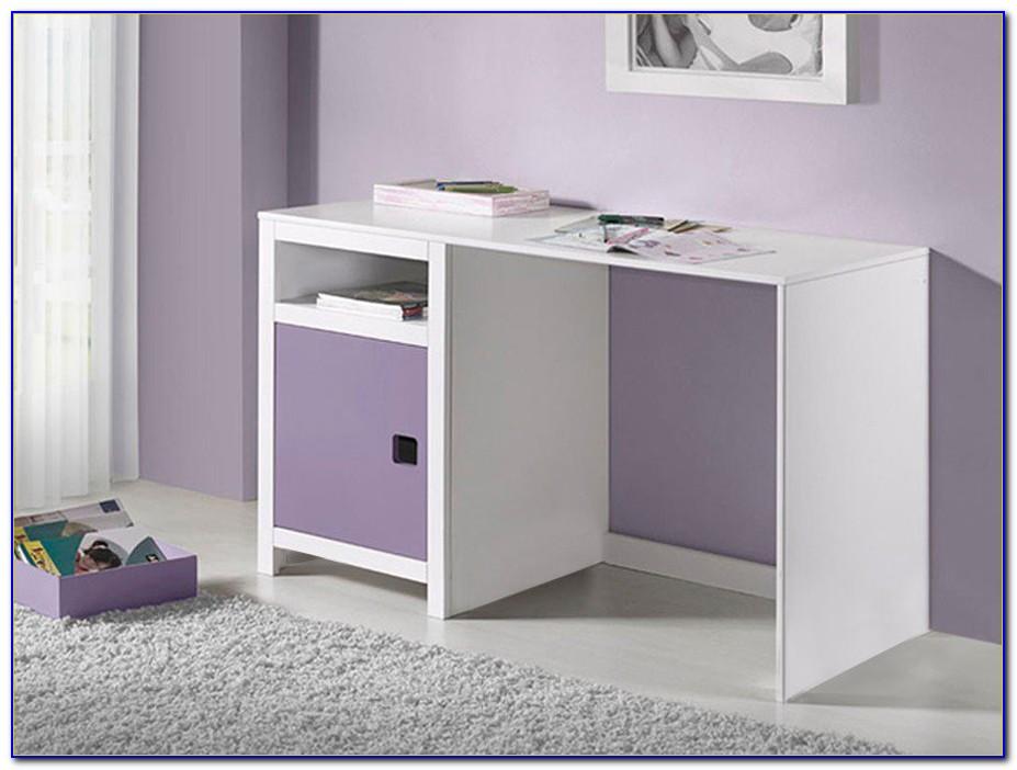 Schreibtisch Lila Weiß