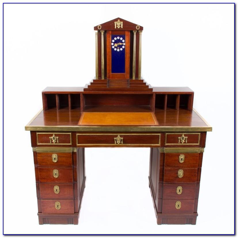 Schreibtisch Mahagoni Optik