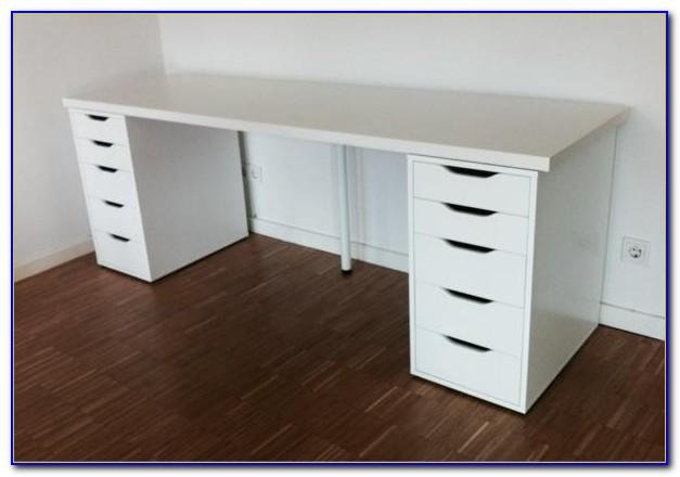 Schreibtisch Malm Mit Ausziehplatte